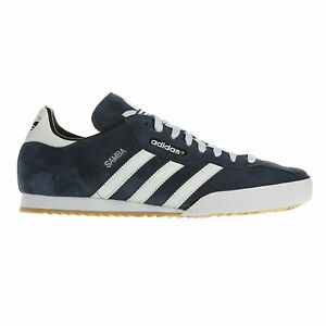 ADIDAS-ORIGINALS-MENS-SAMBA-SUPER-SUEDE-SIZE-7-8-9-10-11-12-BLUE-WHITE-NEW