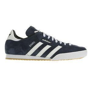 adidas Originals Mens Samba Suede Trainers Blue sz 7