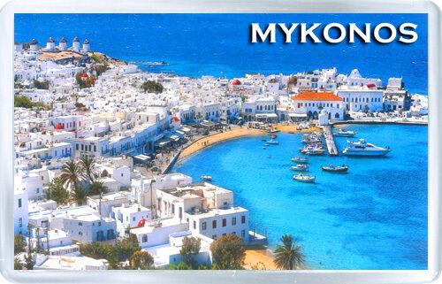 MYKONOS GREECE FRIDGE MAGNET SOUVENIR IMÁN NEVERA
