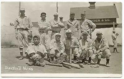 Weitere Ballsportarten Modestil Marshall Mn Baseball Team Vintage Fledermäuse & Handschuhe Rppc Real Foto Fanartikel