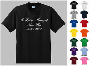 7f026f83b In Loving Memory of Cursive Font Custom Name and Date Personalized T ...