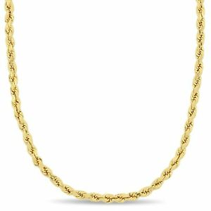 Amour-10k-Yellow-Gold-Unisex-Rope-Chain-Necklace-3-5mm-amp-16-24-inch