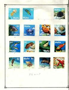1¢ WONDER ~ MALTA USED SMALL LOT ON PAGES ALL SHOWN NICE TOPICALS ~ B785
