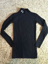 BOYS UNDER ARMOUR COMPRESSION SHIRT Youth Small Black YSM Long Sleeve Kd1