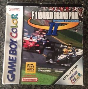 F1-World-Grand-Prix-II-fuer-GAMEBY-Color-SPIELKASSETTE-amp-Case-kein-Handbuch-GBC