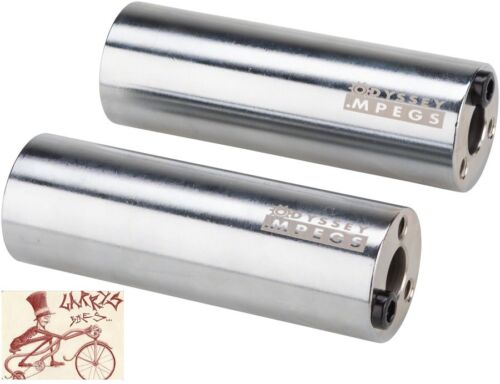 """ODYSSEY M-PEG 14MM WITH 3//8/"""" ADAPTER CHROME BICYCLE PEGS--1 PAIR"""