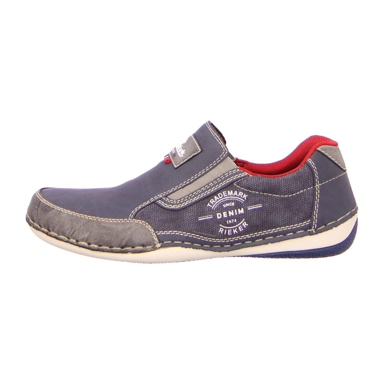 Rieker Schuhe Slipper B9251 47 blau kombi (blau) NEU