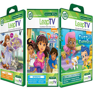 LeapFrog-leapTV-Games-DORA-Bubble-Guppies-SOFIA-Active-game-New-sealed