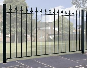 Salva-Spear-Top-Fence-Panel-1830mm-GAP-x-950mm-H-Wrought-Iron-Metal-Fencing