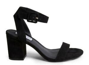 Dettagli su ORIGINALI STEVE MADDEN MALIA BLACK nero Sandali scarpe donna tacco largo
