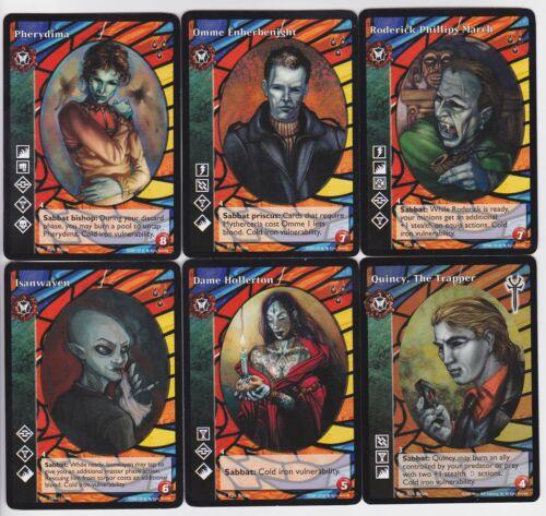 Kiasyd Crypt Lot G3//G4 6x Vampires Mixed Heirs to the Blood//LoB V:TES VTES