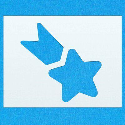 Shooting Star Shape Mylar Airbrush Painting Wall Art Stencil five