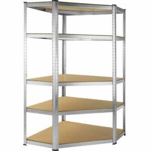 Scaffale Angolare 5 Ripiani Mensola Metallo Zincato Garage Cucina 875 Kg Garage Ebay