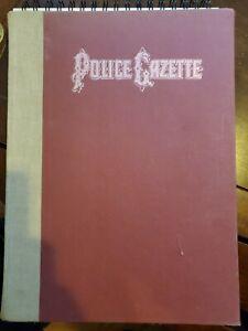 Police Gazette Hardback 1972 Vintage Book law enforcement collectibles