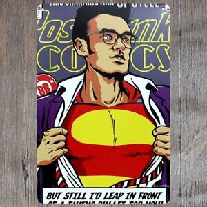 Metal Tin Sign Superman Decor Pub Bar Home Vintage Retro comic Cafe ART