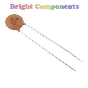50 X 100nf 0 1uf Ceramic Disc Capacitor 104 25v