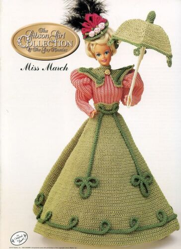 Miss March 1994 Gibson Girl Outfit fits Barbie Doll Crochet Pattern Booklet