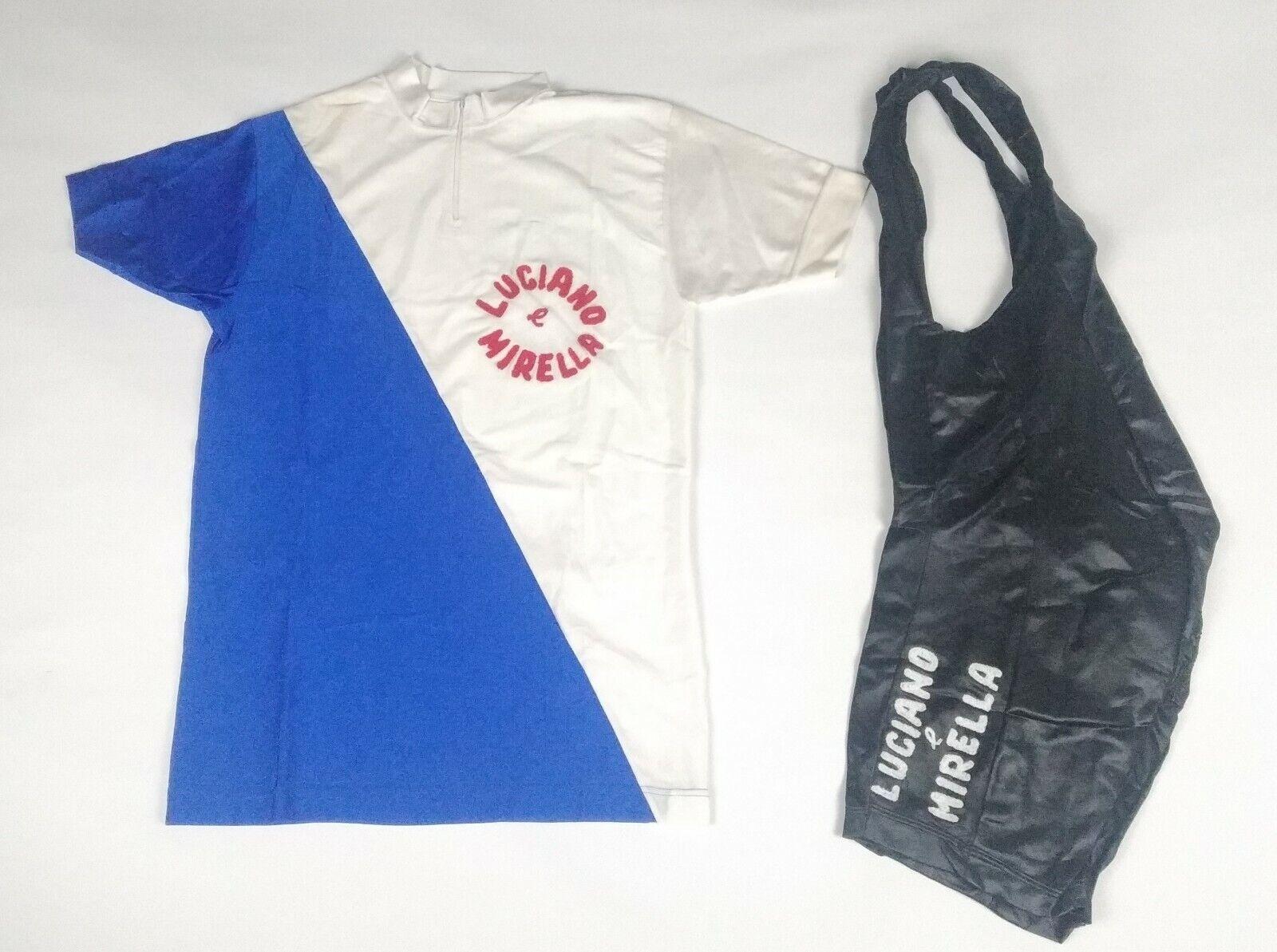 Vintage NOS ciclismo Cycling maglia Jersey complet body 3 M Luciano e Mirella