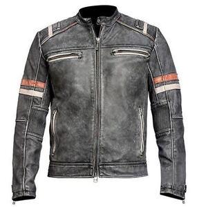 Veste cuir retro moto