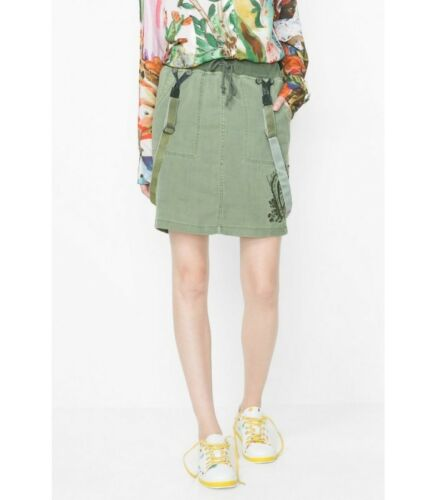 Woman 36 Sale Girls Super 50 Skirt Desigual Green Size Rep qC4ndp