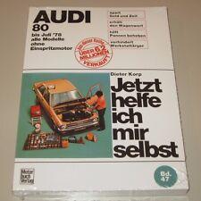 Reparaturanleitung Audi 80 B1 bis Baujahr Juli 1978 Alle Vergaser Modelle NEU!