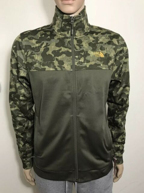 0dfe5aad5 The North Face Men's 100 Cinder Full Zip Jacket New Taupe Green Camo S M  LXL XXL
