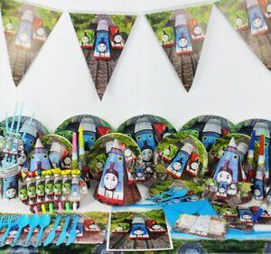 Thomas-amp-Friends-Train-Fete-D-039-anniversaire-Fournitures-Tank-Engine-vaisselle-decorations