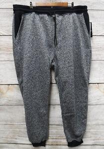 Southpole-Jogger-Mens-Size-6XB-Marled-Navy-Blue-Fleece-Slim-Fit-Jogger-Pants-New