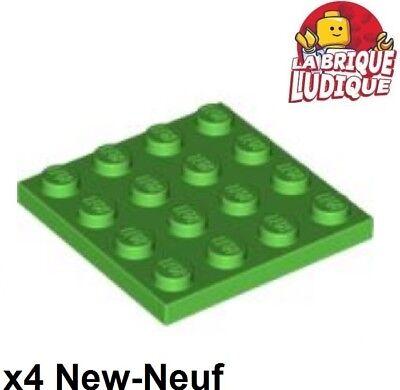 Lego 4x Platte Flach 4x4 Hellgrün/bright Grün 3031 Neu Lego Bau- & Konstruktionsspielzeug