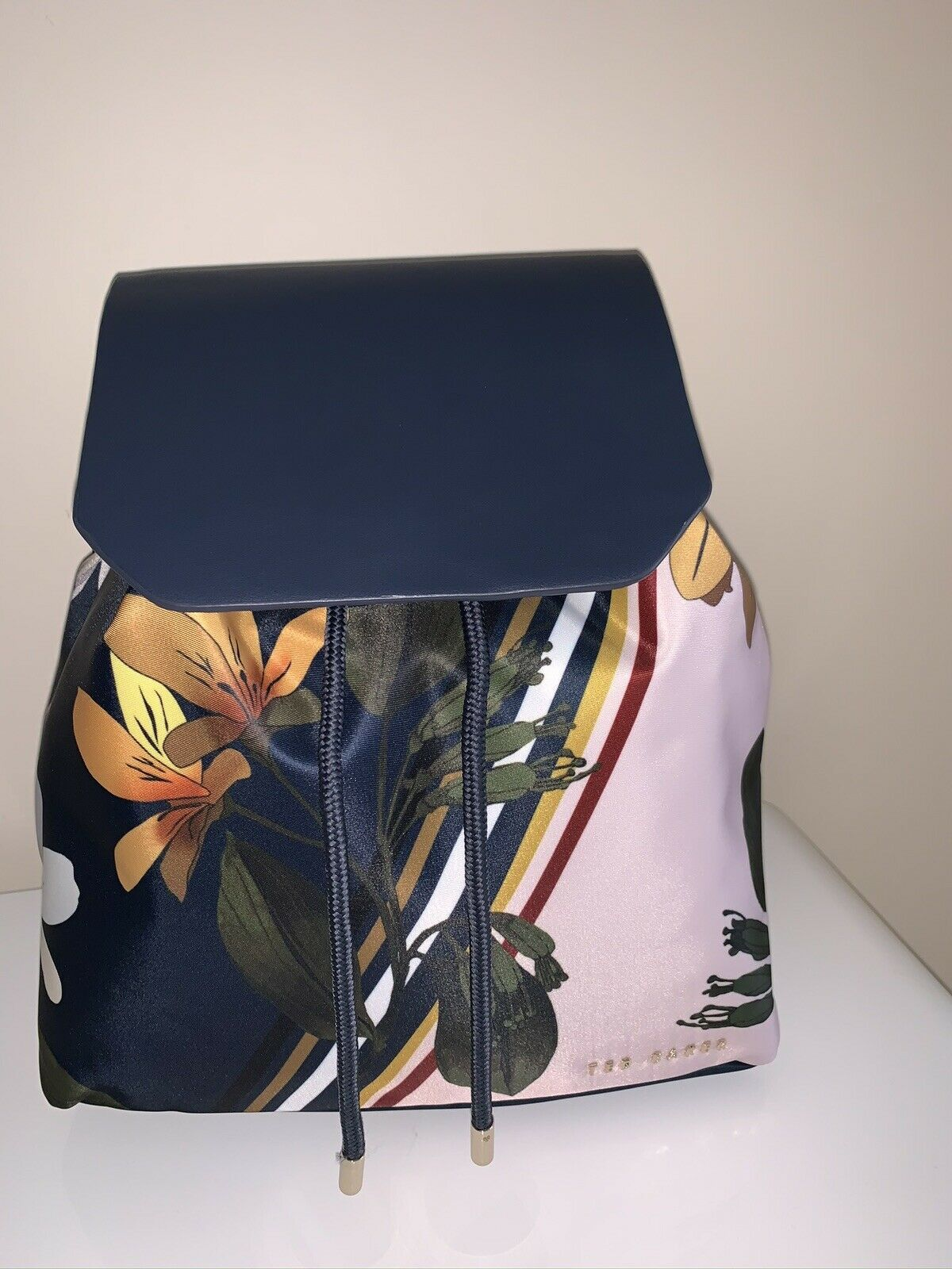 BNWT TED BAKER Floral Backpack With Tags, 100% Genuine Colour Navy..