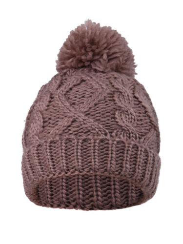 Assorted Knits Lovely Kids/' Soft Chunky Cable Knit Beanie with Yarn Pompom