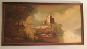 FINEST-48-MARIO-TAVARES-MID-CENTURY-LANDSCAPE-OIL-ON-CANVAS-PAINTING-SIGNED