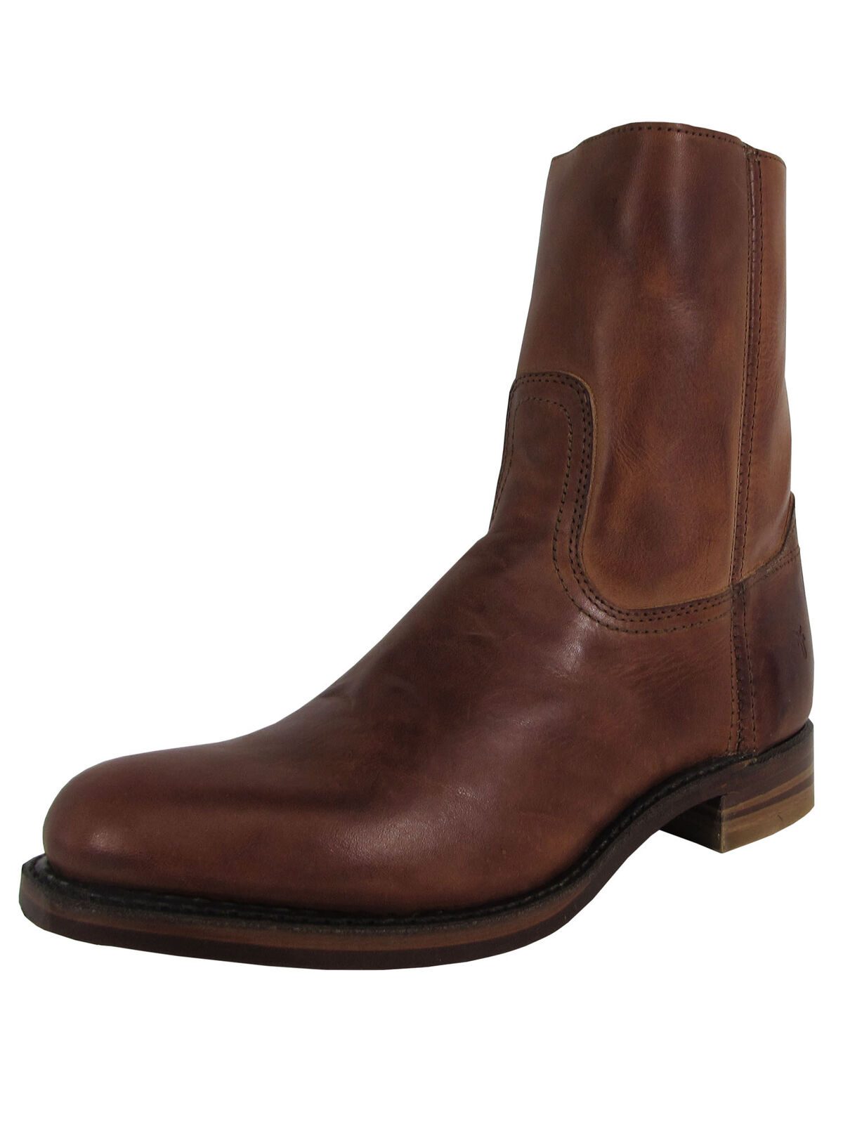 Frye Mens Campus Inside Zip Up Round Toe Boots, Brown, US 8.5