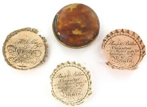 1700s-1800s-BREMEN-GERMANY-POCKET-WATCH-OUTER-PAIR-CASE-3-PAPER-INSERTS