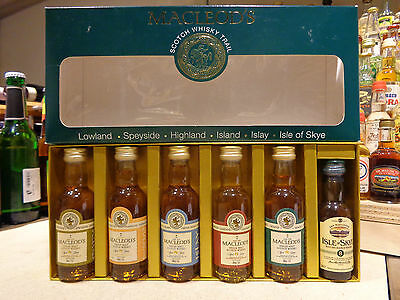 Miniature Single Malt Scotch Whisky Trail Macleod's 6 differet mini 8yo 5cl 40%