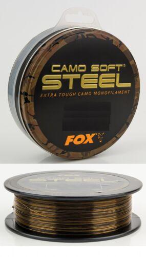0,03€//1m Fox Soft Steel Camo Karpfen Schnur