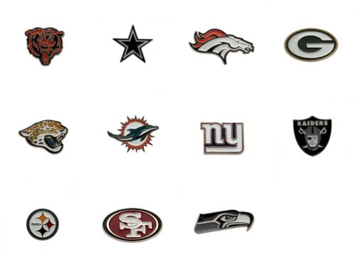 Various NFL Metal Pin Badges Crest Logo Official American Football Gift