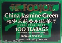 Foojoy Chinese Jasmine Green Tea - 100 Tea Bags 7 Oz