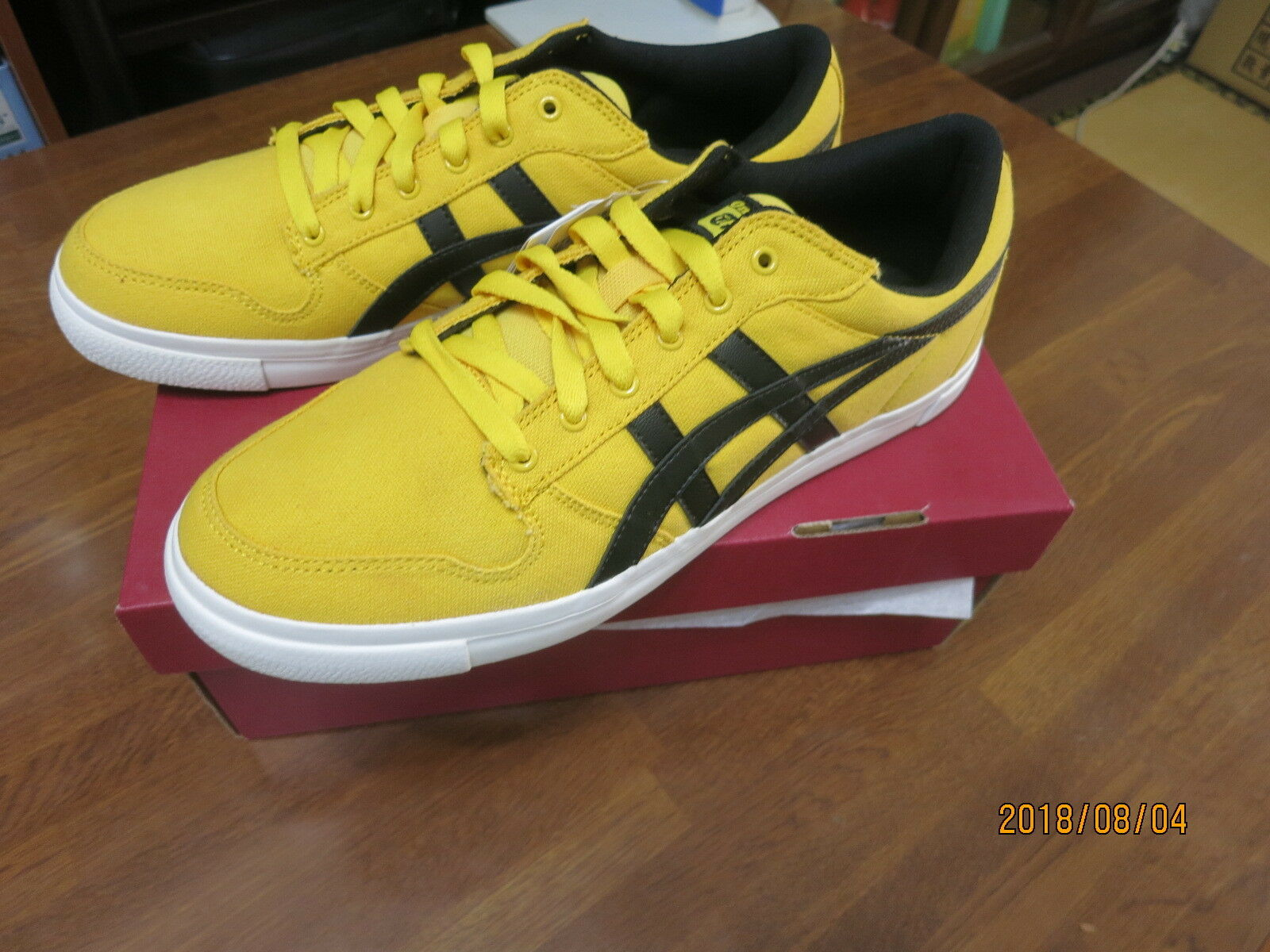 Asics Onitsuka Tiger Yellow /Black  Shoes A-SYS  SIZE USJP27.5 Seasonal price cuts, discount benefits