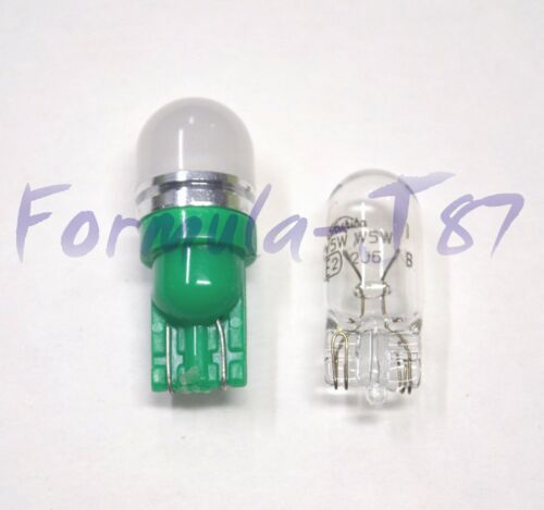 LED 5050 Light Green 168 Two Bulbs License Plate Tag Upgrade Lamp SMD JDM Show