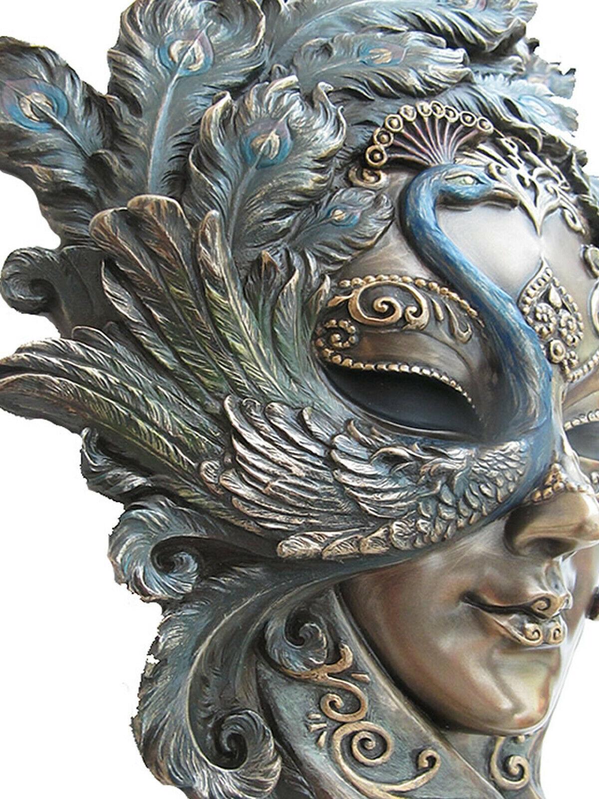 Venezianische Maske Pavone der Pfau Wand Deko Karneval Venedig Maskerade 20328E