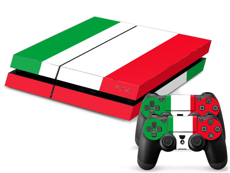 Sony PS4 PLAYSTATION 4 Skin Design Sticker Screen Protector Set - Italy Motif