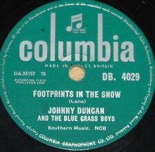 JOHNNY DUCAN & BLUE GRASS BOYS FOOTPRINTS bw GET ALONG 78 RPM E EXCELLENT GRADE