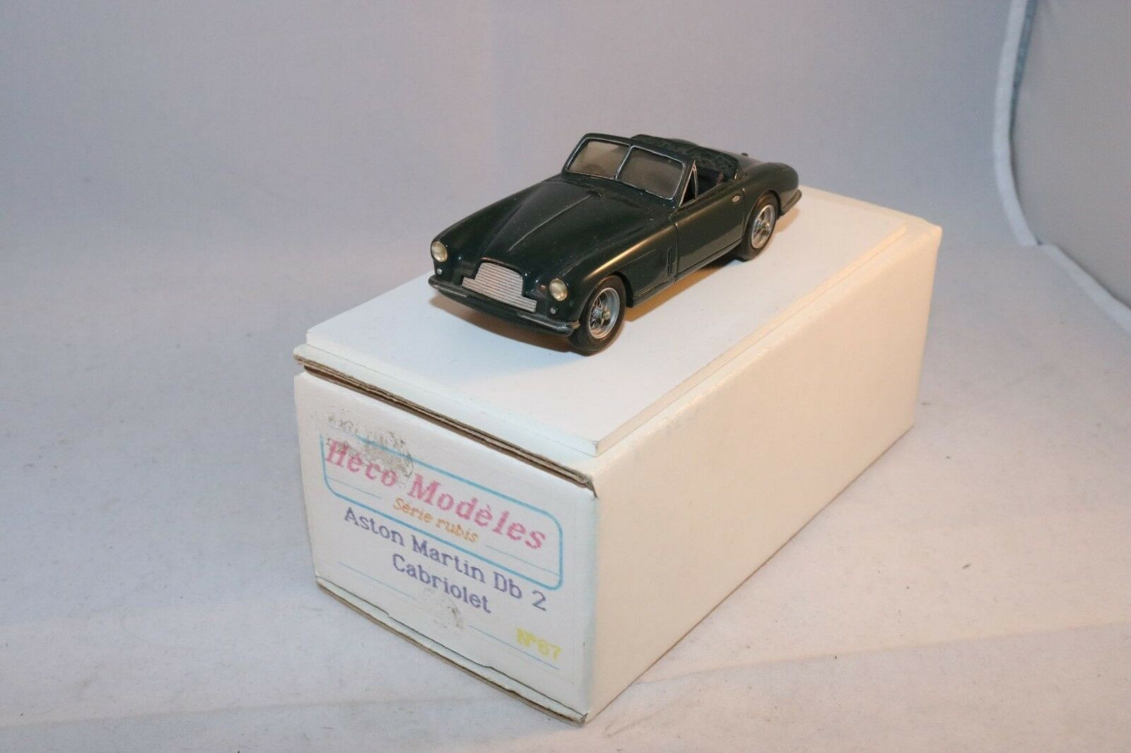 Heco Modeles 87 Aston Martin DB 2 Cabriolet kit hand built perfect mint in box