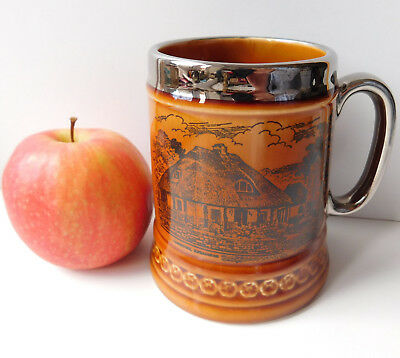 Charlie Disney's Old Thatched Inn mug Ilfracombe vintage pottery tankard