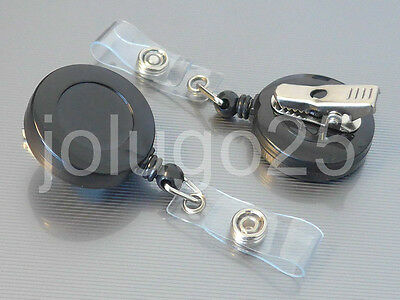 Retractable Badge Holder SWIVEL-BACK Alligator Clip ID Card Reel 10, 50,100 K40