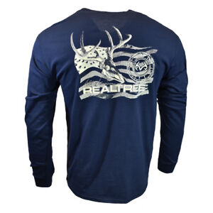48fe25d7064 REALTREE Mens Long Sleeve T Shirt M L XL Antler Camo Hunting Deer ...