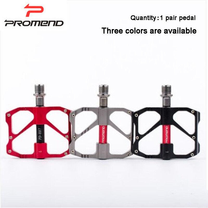 1 Pair Promend Aluminum-Magnesium + Bearing MTB Road Bike Pedal Bicycle Pedaling