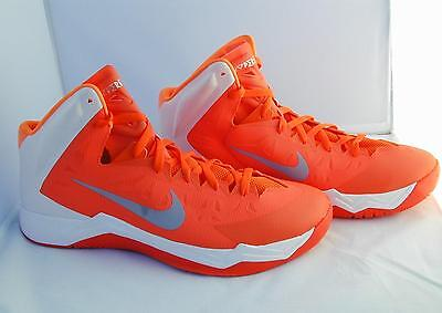 new product 504a3 26f02 Nike Zoom Hyperquickness Mens Basketball Shoes Size 17 Orange Hi Top