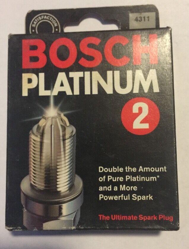 2 Spark Plug New Bosch 4311 Platinum Plus Set of 8
